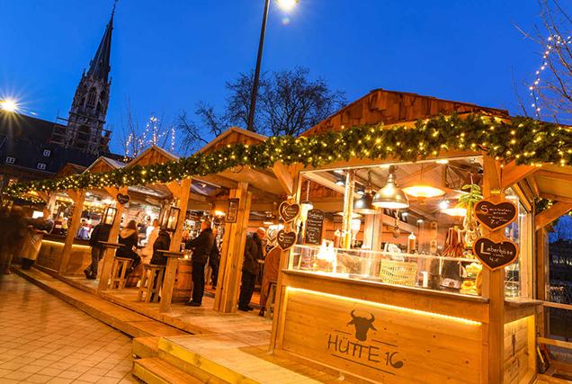 Weihnachtsmarkt Aachen Hütte 16